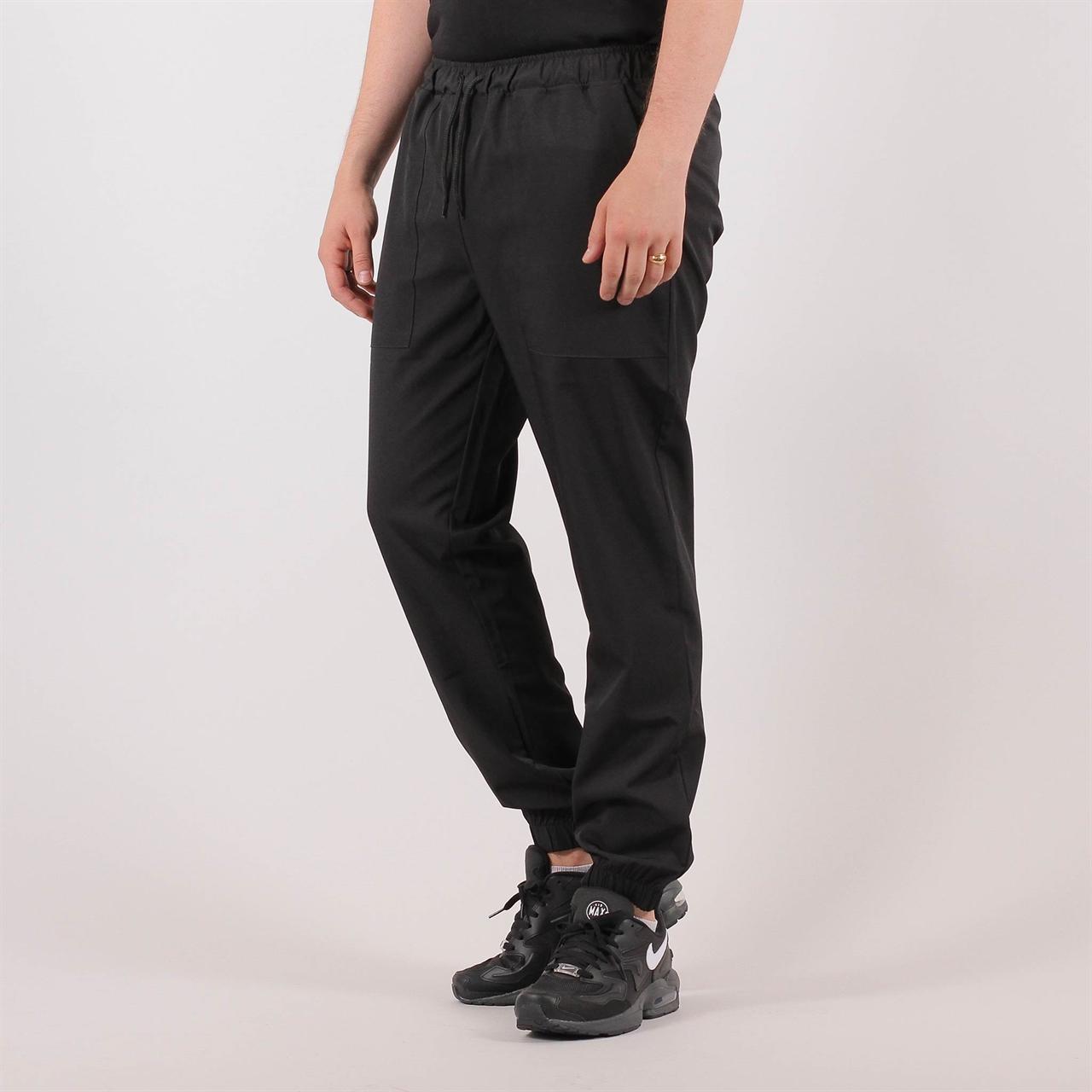 00dc1ee653d567 Le Fix Loose Fit Pants Black (18020400100) - Shelta