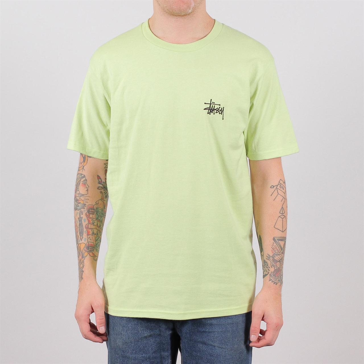 8de17872040 Shelta - Stussy Basic Tee Pale Green (1904257-PGR)