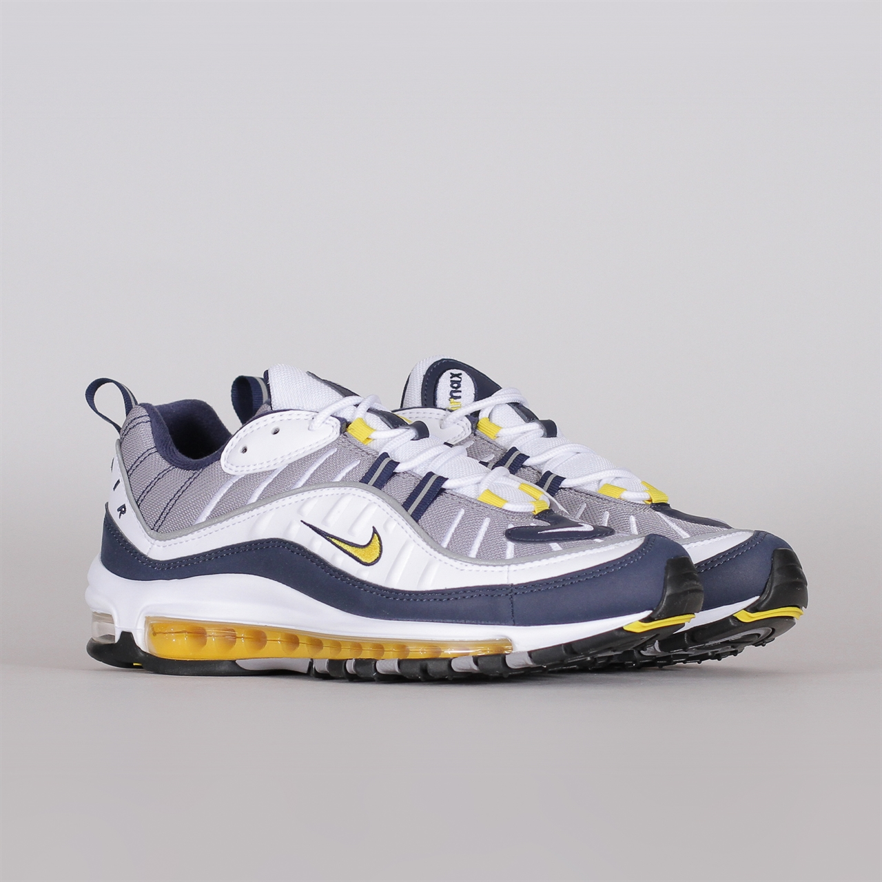 8e8860f28f Air Max 98 (640744-105). 179 179EUR / a pair. Colorway: White/Tour Yellow-Midnight  Navy