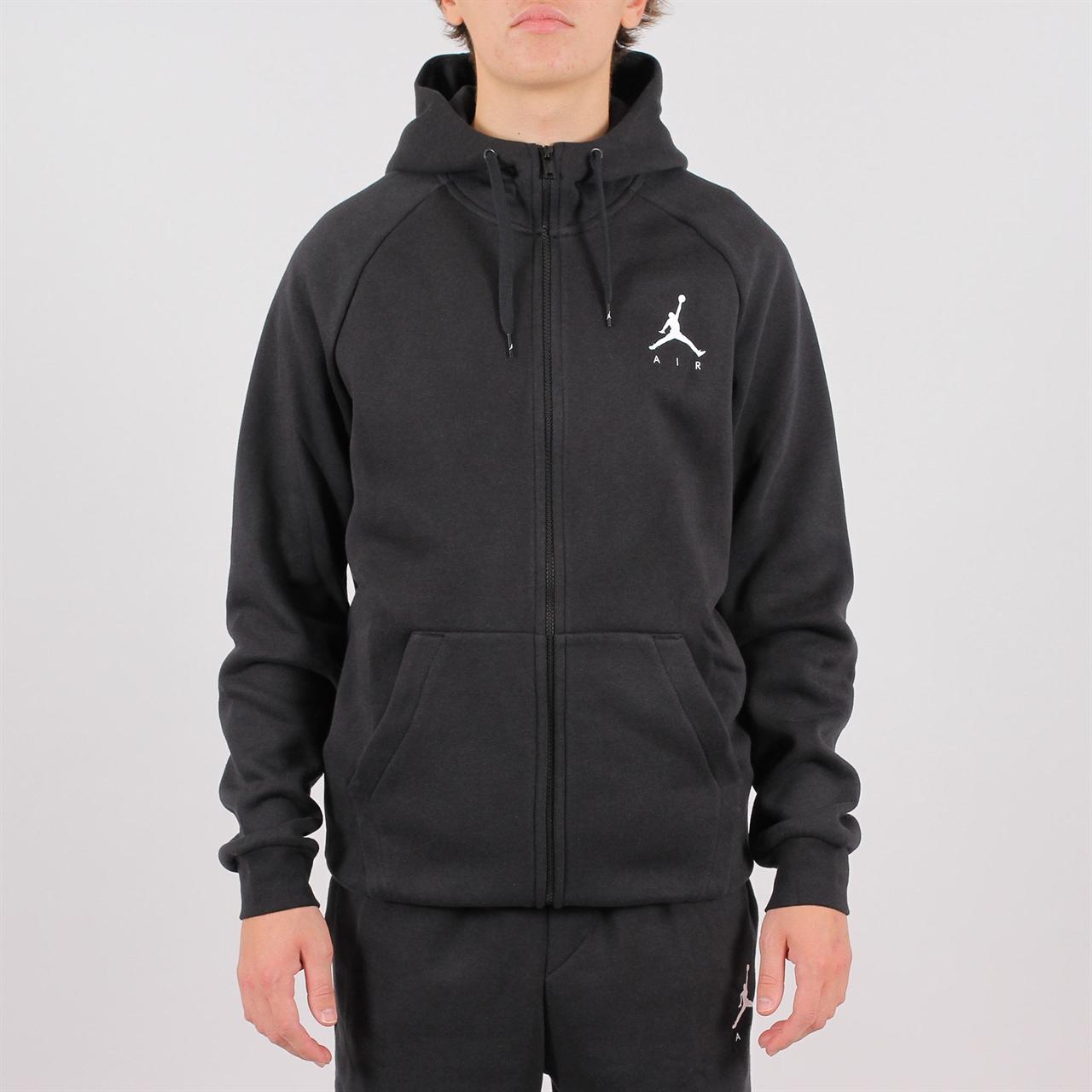 17bbaa1701da Shelta - Jordan Jumpman Air Fleece Full-Zip Hoodie Black (939998 ...
