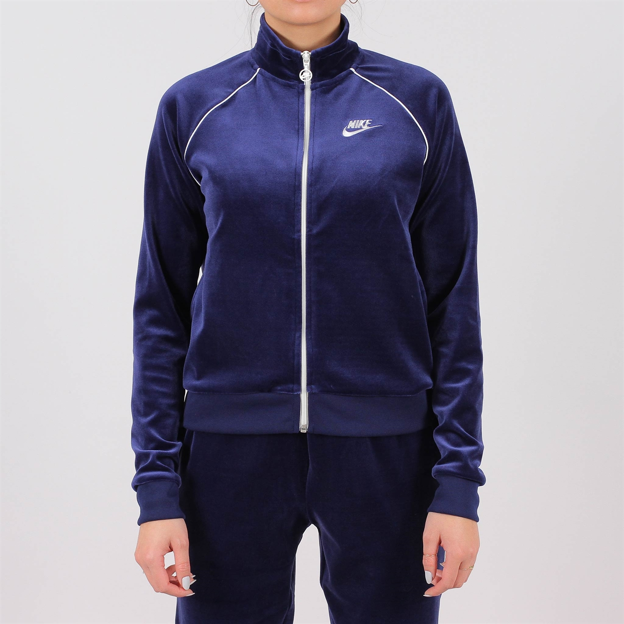 675ac5b02e1b Shelta - Nike Womens Velour Track Jacket Blue (AQ7977-478)