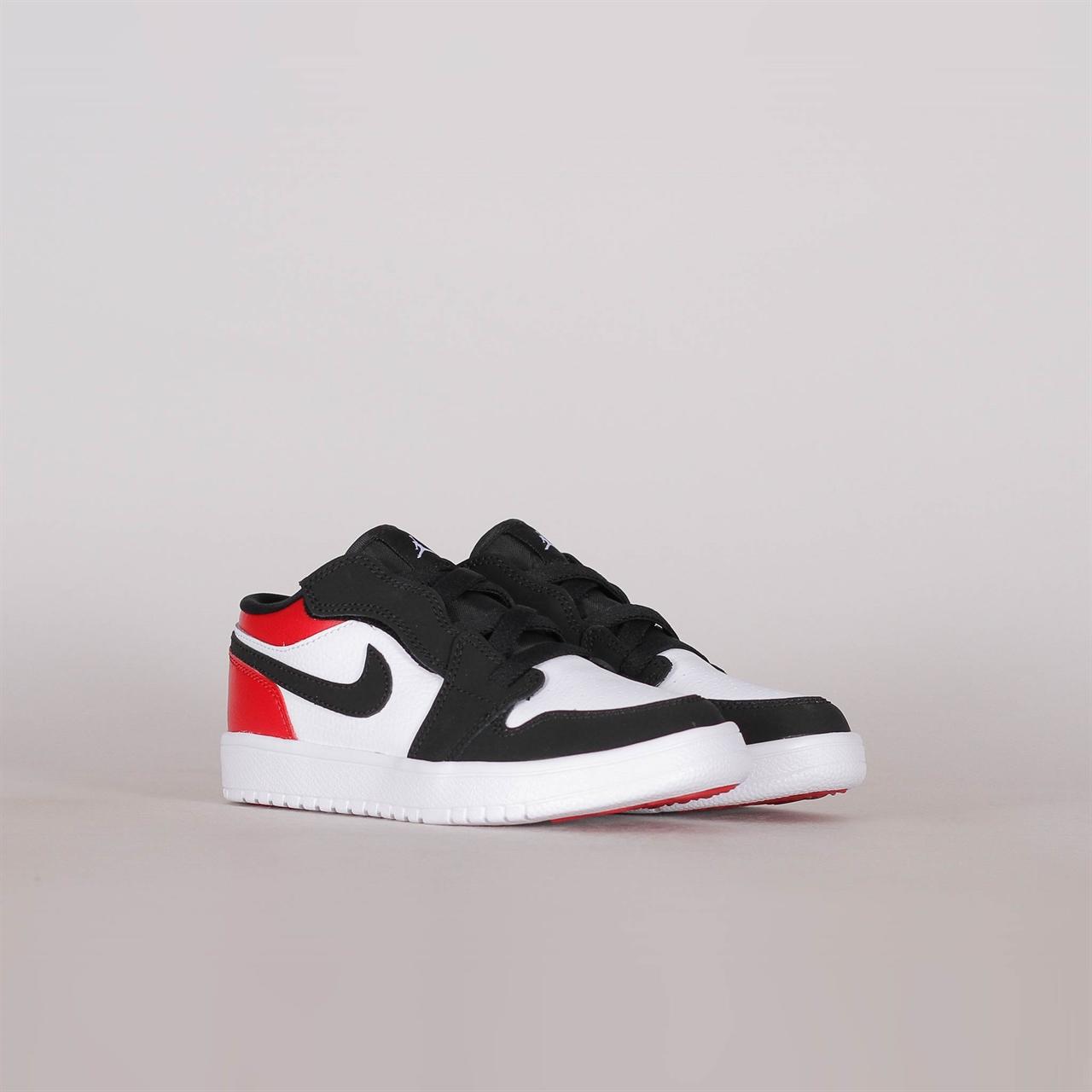2d47b7ec41656 Nike Air Jordan 1 Low Pre-School Black Toe (BQ6066-116) - Shelta