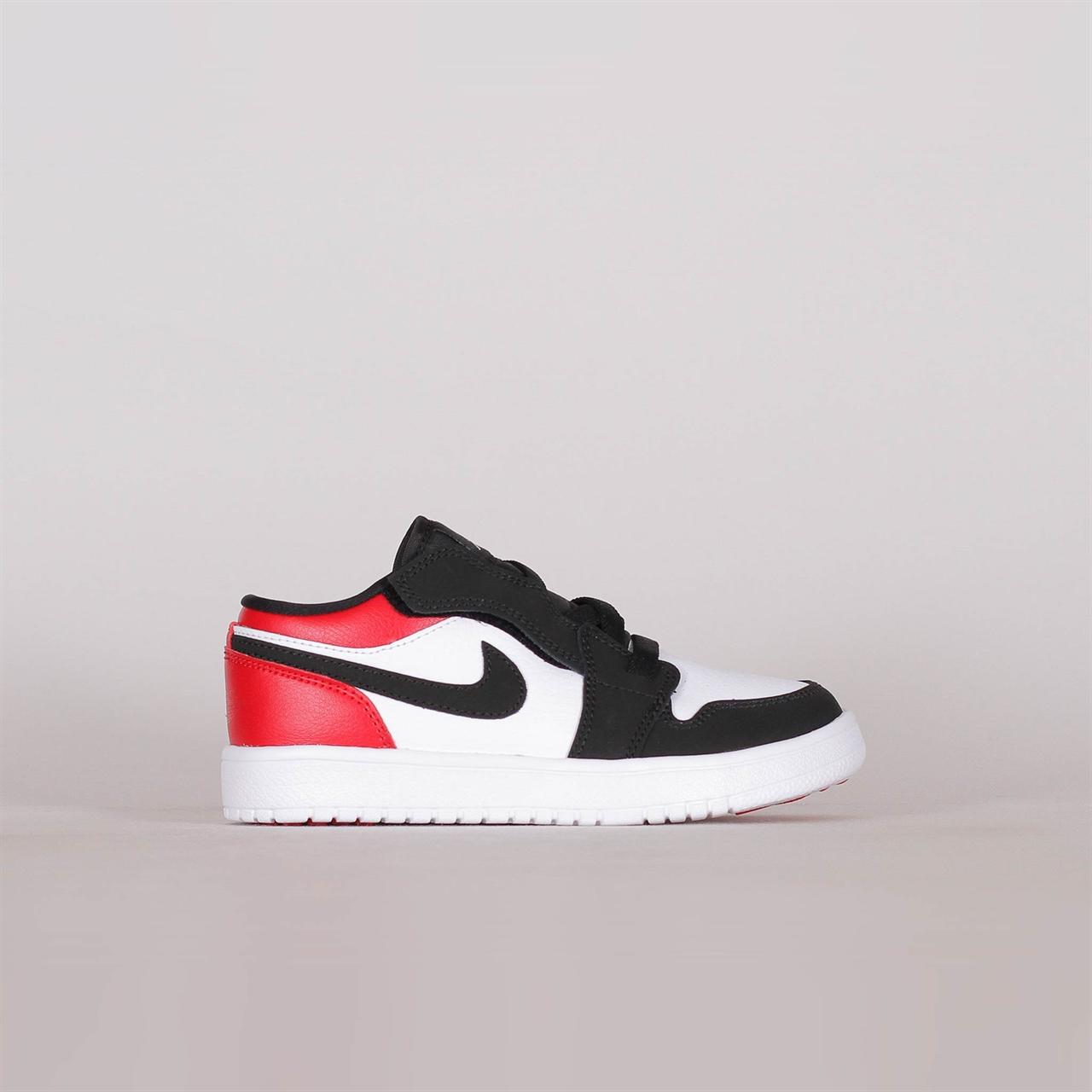 29cd224197cfd Shelta - Nike Air Jordan 1 Low Pre-School Black Toe (BQ6066-116)