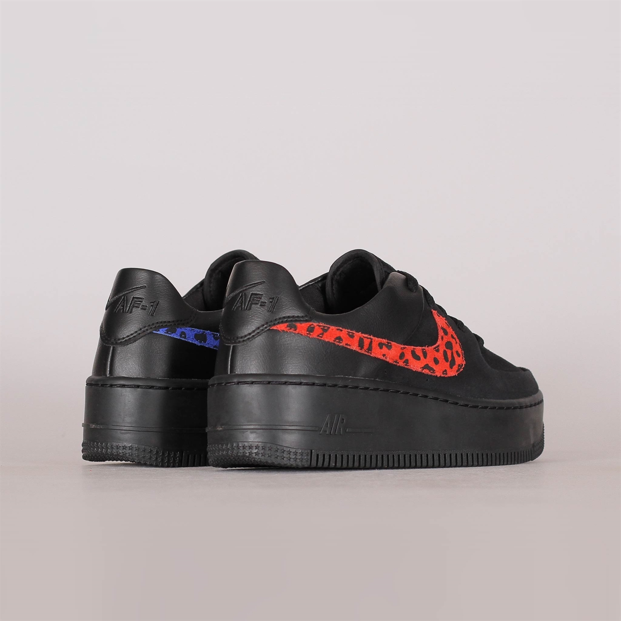 sports shoes 451af 17bee Womens Air Force 1 Sage Lo Premium Black Leopard (BV1979-001)