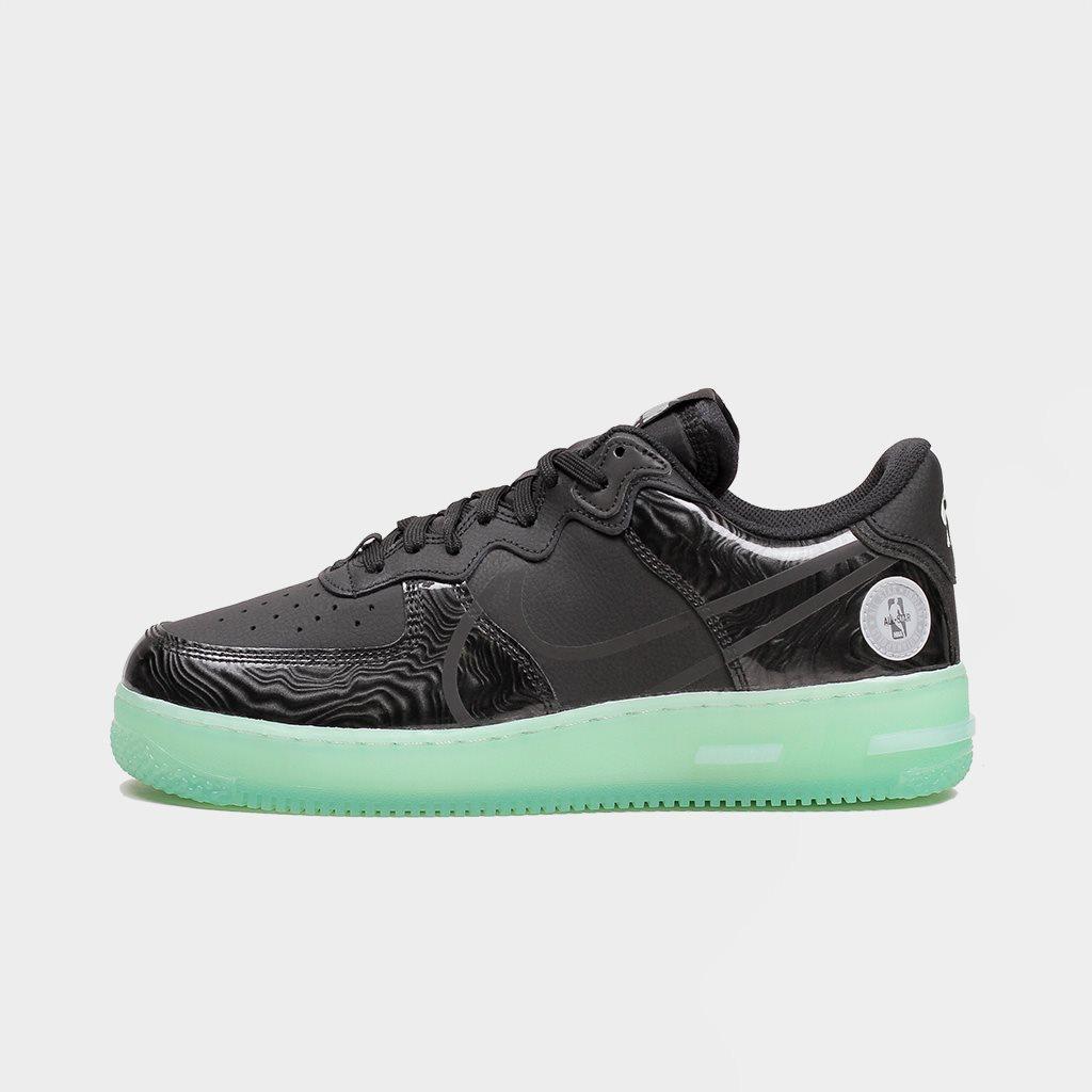 Shelta - Nike Air Force 1 React LV8 Black Barely Green (CV2218-001)