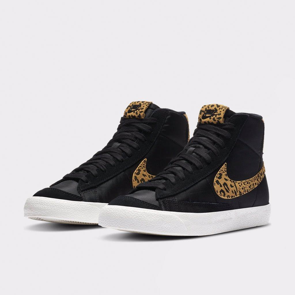 Shelta - Nike Womens Blazer Mid 77 Leopard Swoosh (DC9207-001)