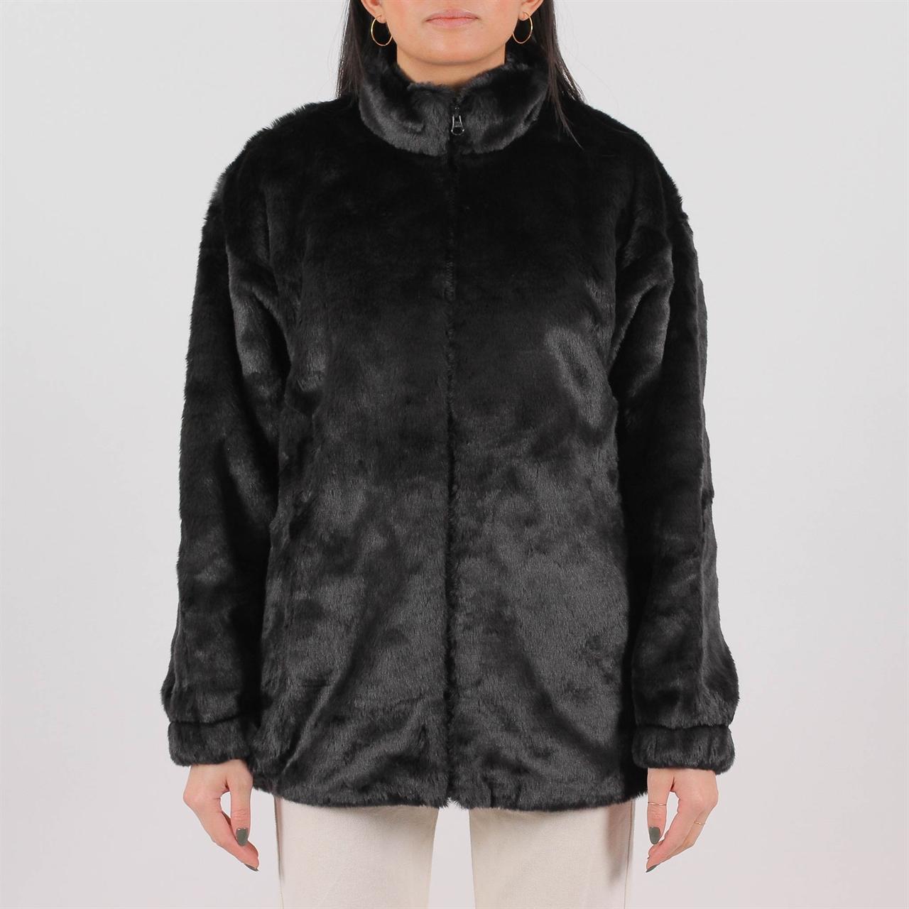 88cae306e Adidas Originals Womens Fur Jacket Black (DH4547) - Shelta