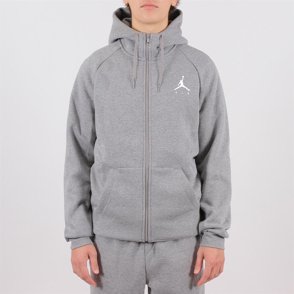 799b30cb9feeb1 Jordan Jumpman Air Fleece Full-Zip Hoodie Carbon Heather (939998-091)