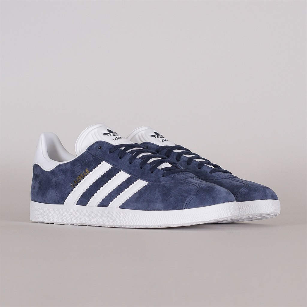 adidas Originals Gazelle Navy & White Sneakers