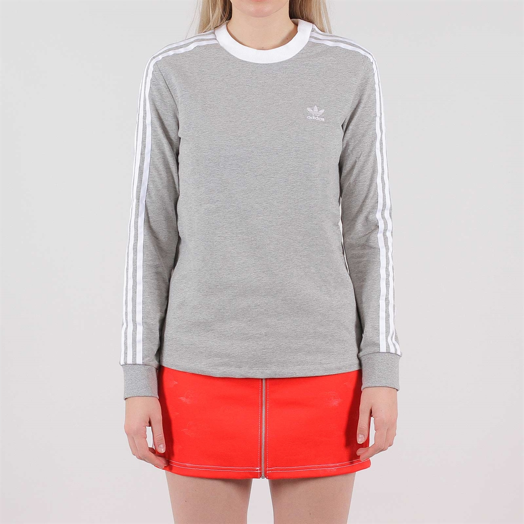 adidas Originals 3 Stripes LS Tee black