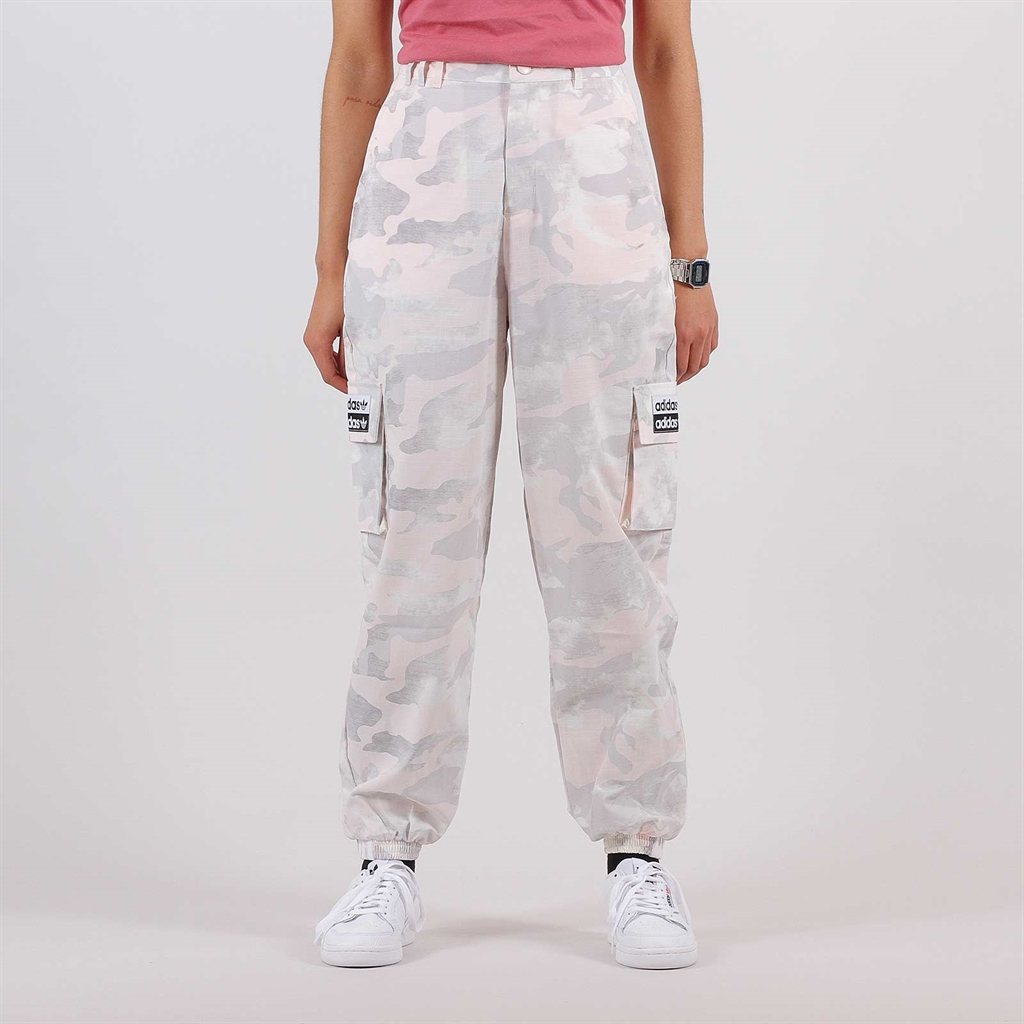 adidas Originals RYV high waist cargo trousers in camo