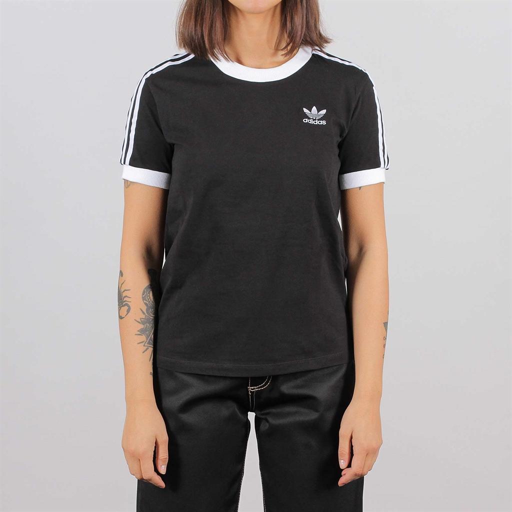 Adidas Originals Womens 3 Stripes SS Tee Black (ED7482)