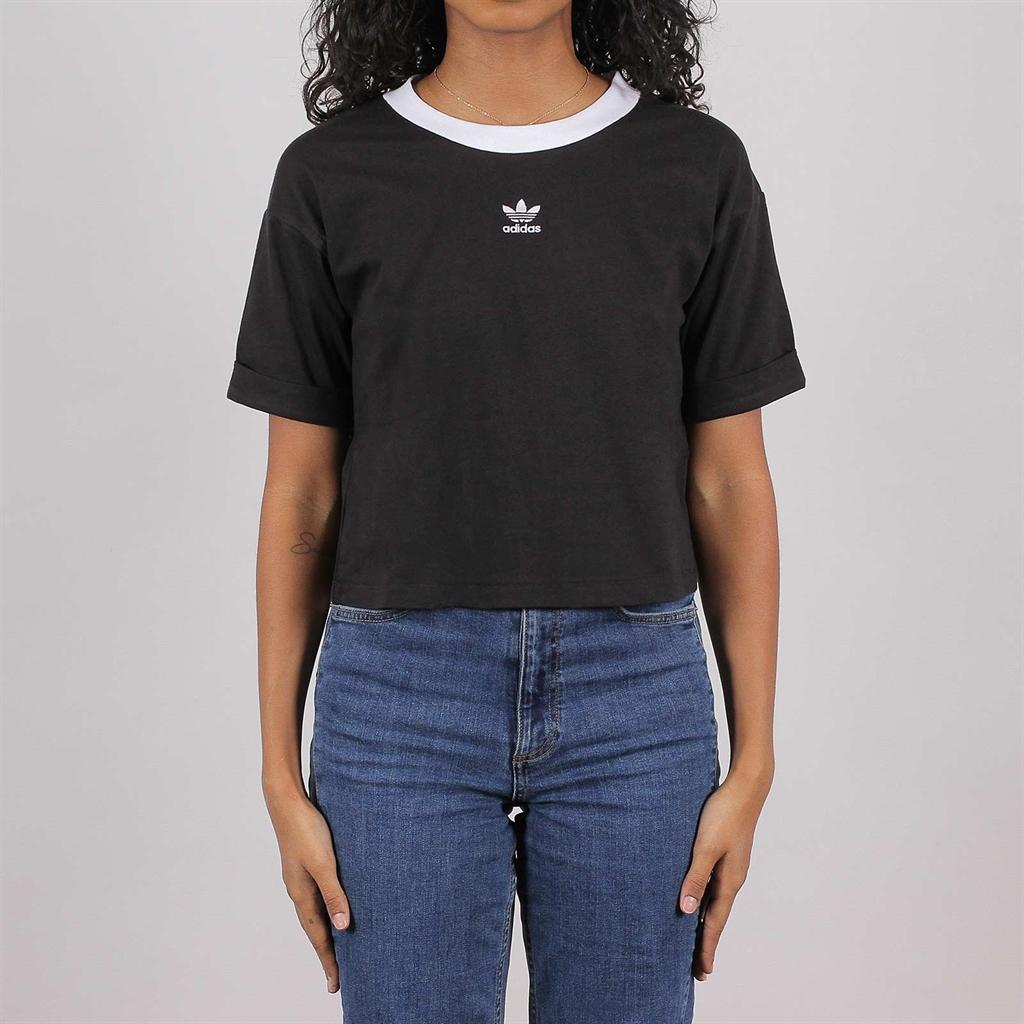 Shelta Adidas Originals Womens Crop Top Black (FM2557)