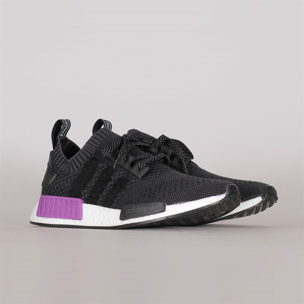 Adidas NMD Black, ice purple size 8 woman's
