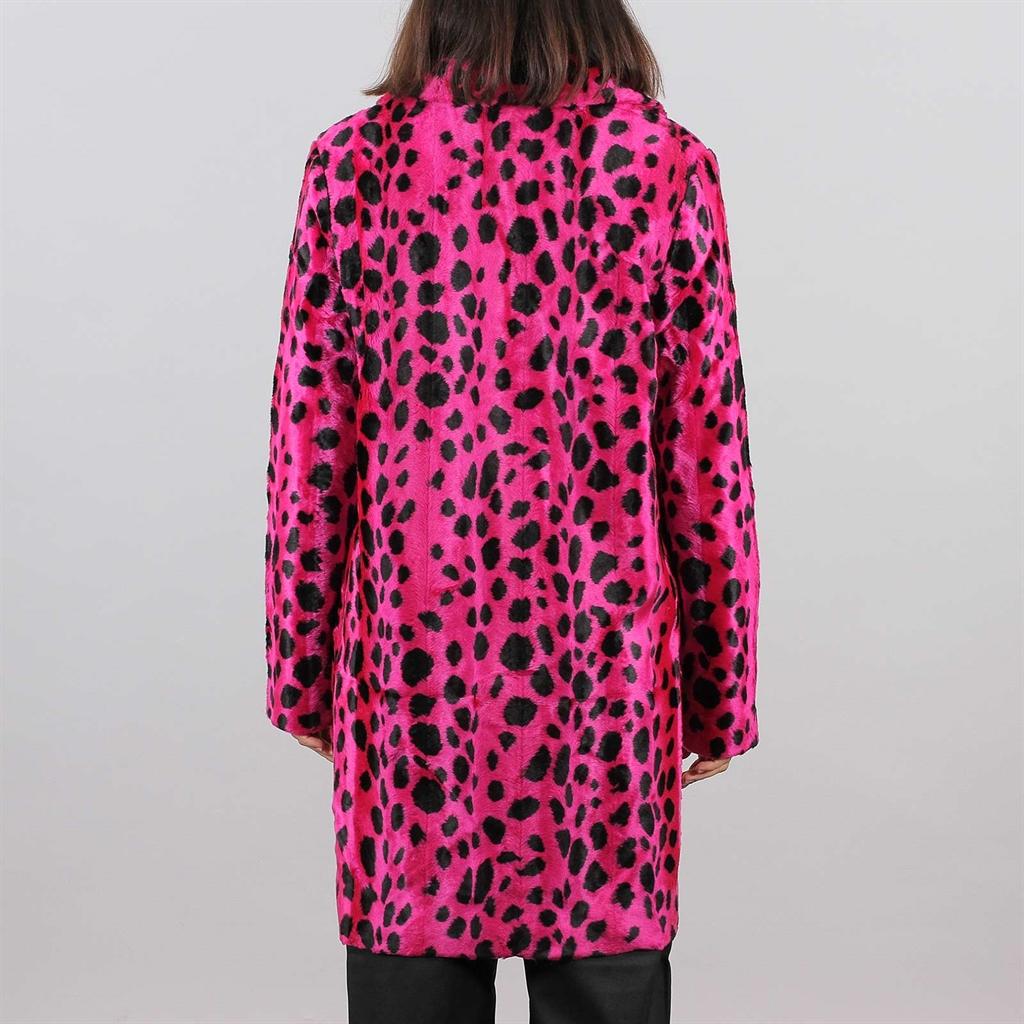 Shelta MadeMe Dalmatian Fur Coat Hot Pink (J5FW19 PIN)