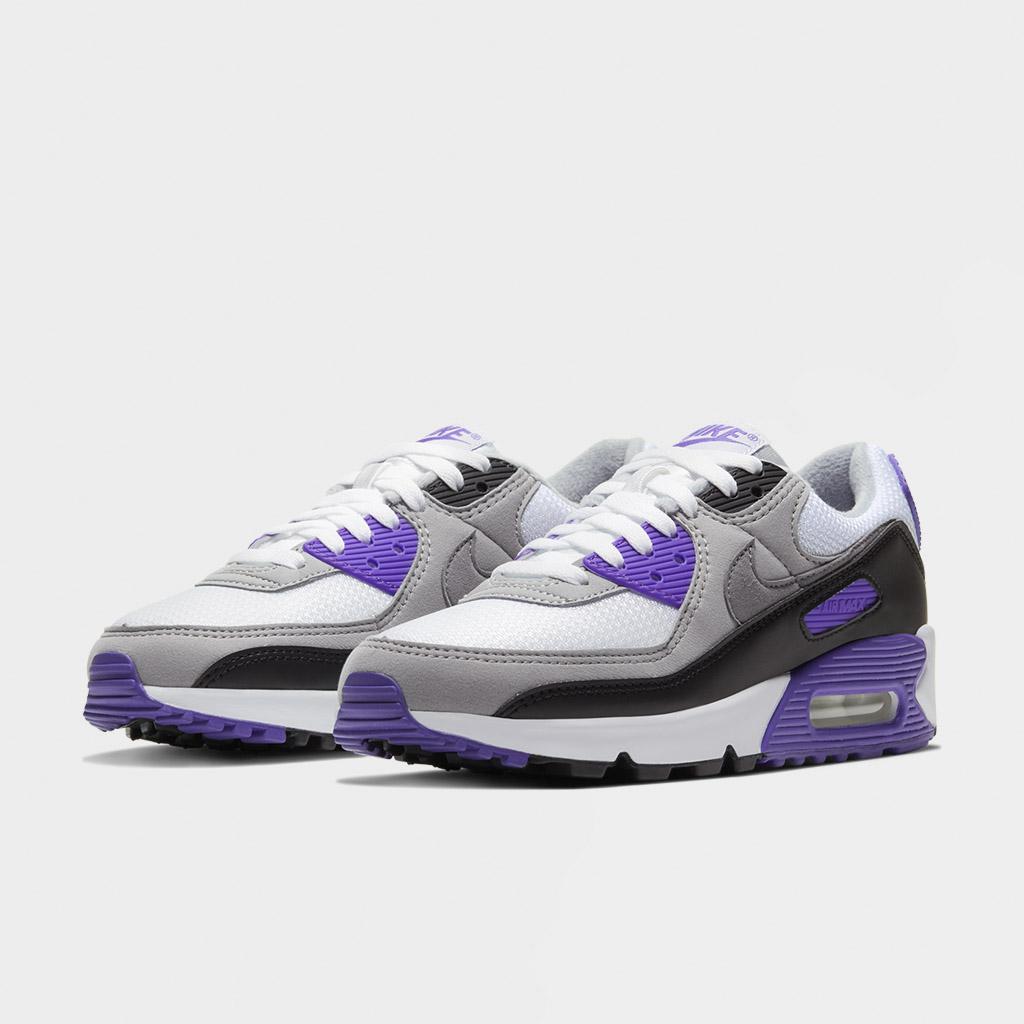 Nike Womens Air Max 90 White Hyper Grape Cd0490 103 Shelta