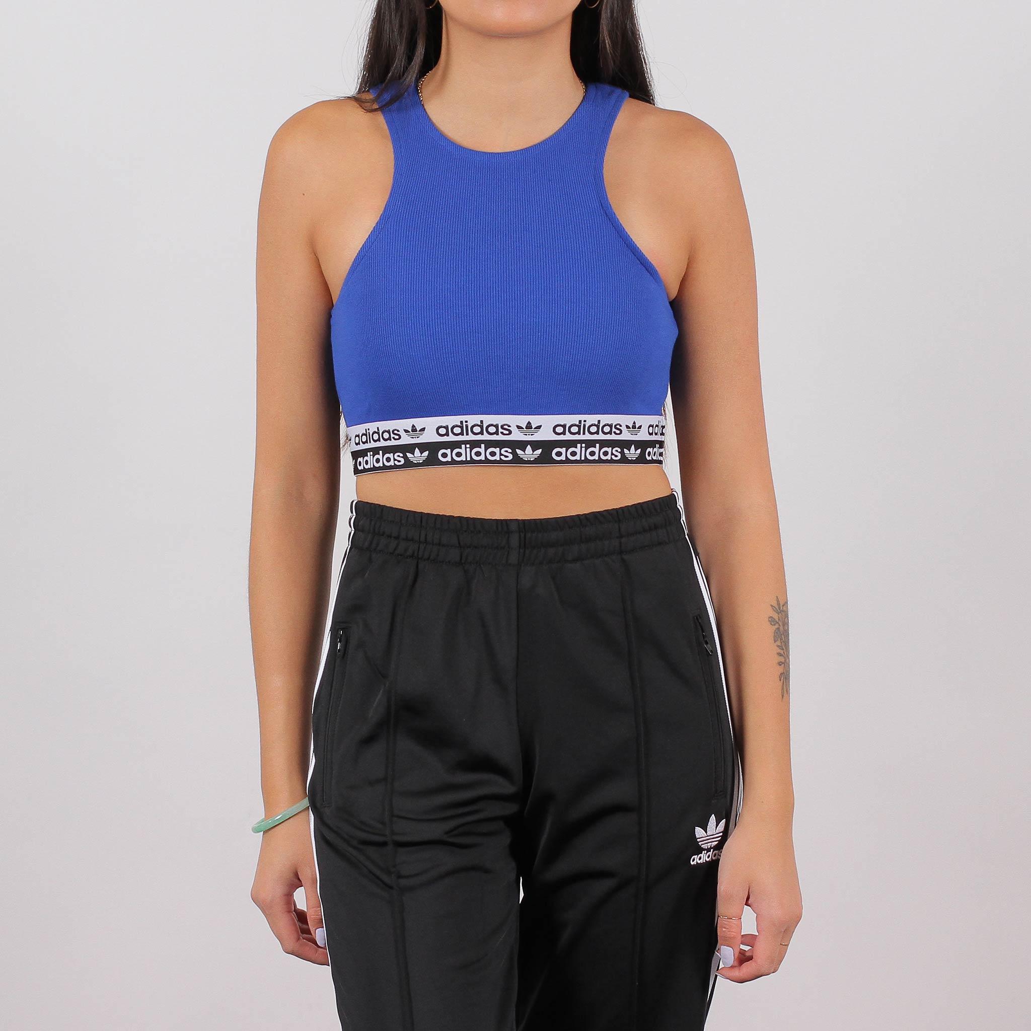 Adidas Originals Womens Cropped Top Blue (ED7427)