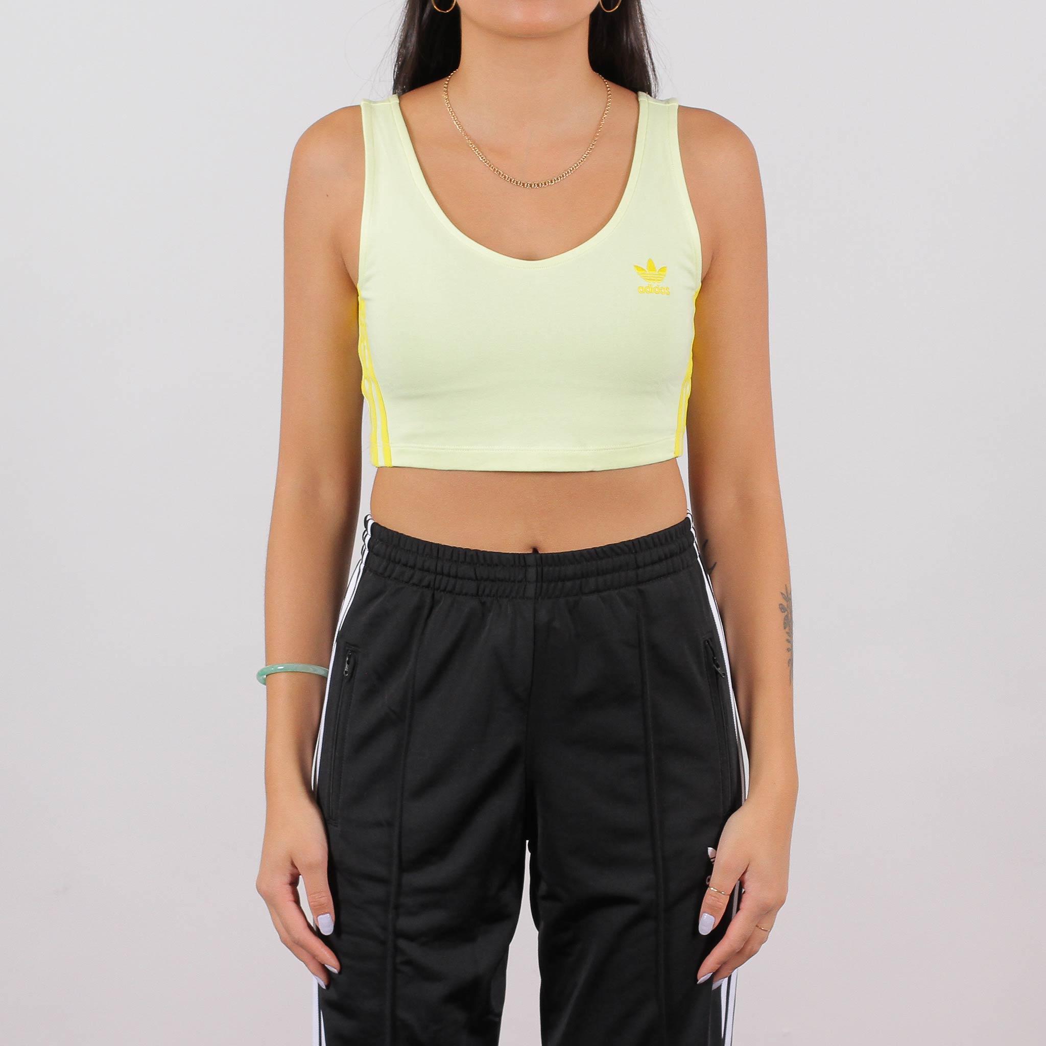 Refinar soltero galería  Shelta - Adidas Originals Womens Crop Tank Ice Yellow (FK0481)