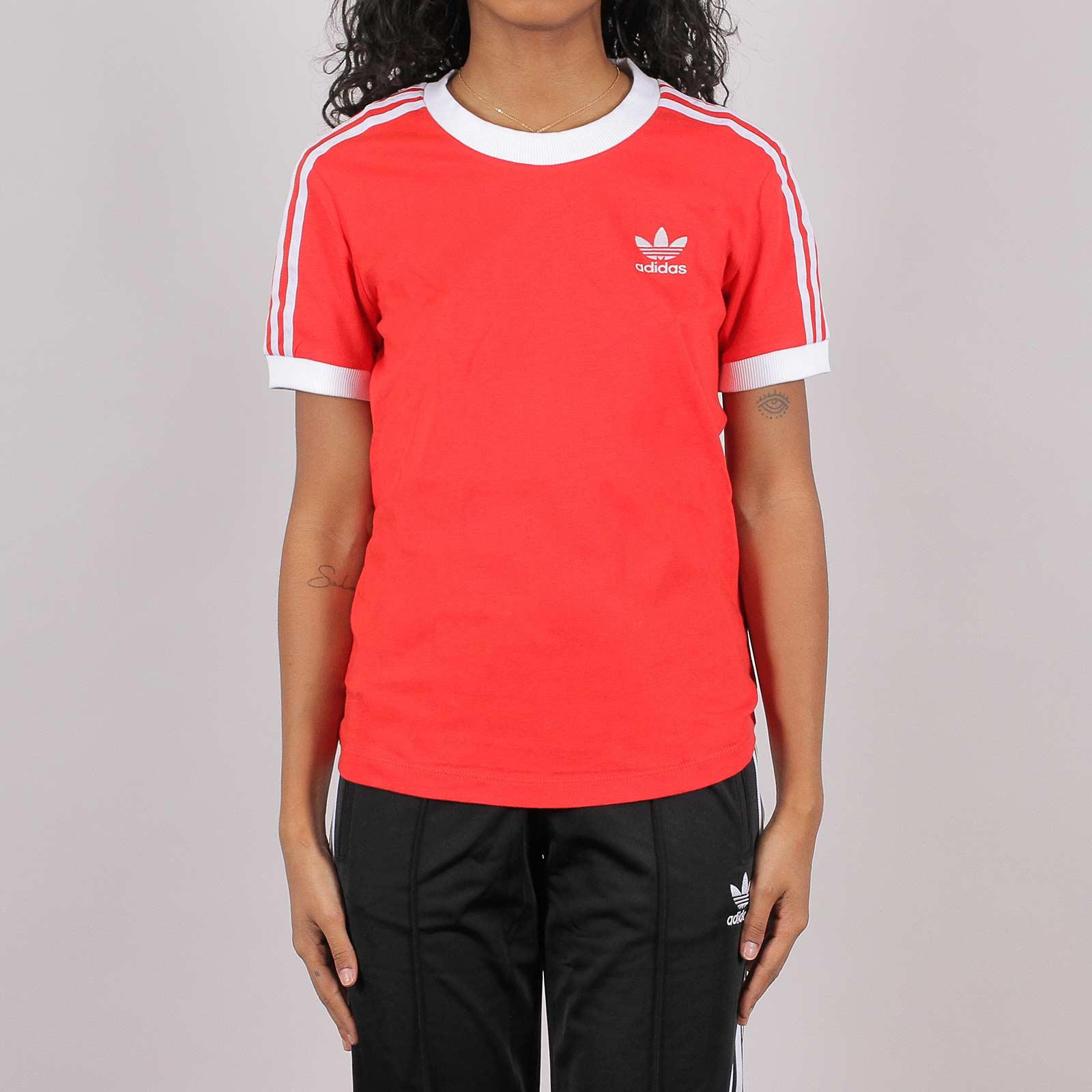 precio Berri Artesano  Shelta - Adidas Originals Womens 3 Stripes T-Shirt Red (FM3318)