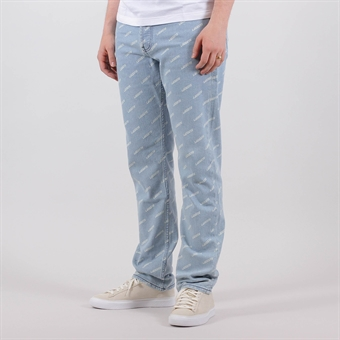 7f2a0fadc65 Lacoste Live Straight Fit Print Cotton Jeans